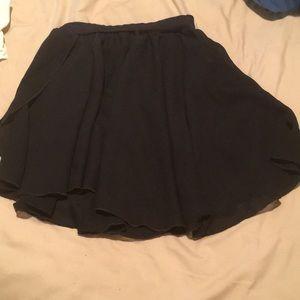 Capezio black faux wrap pretty ballet skirt